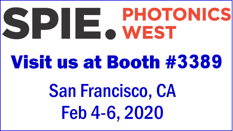 UNI OPTICS will at  SPIE's Photonics West 2020 Booth 3389